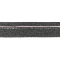 Elastique ligne rose gris chiné foncé 40mm