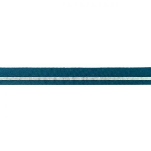 Elastique lingerie bande argent bleu pétrole