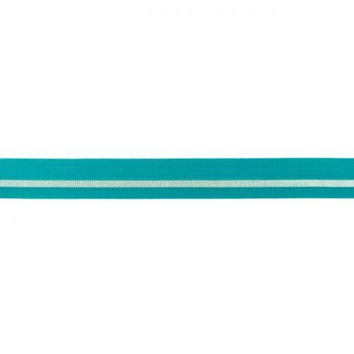 Elastique lingerie bande argent bleu turquoise