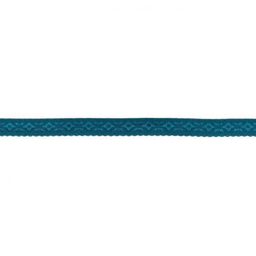 Elastique lingerie à cheval 11 mm bleu pétrole