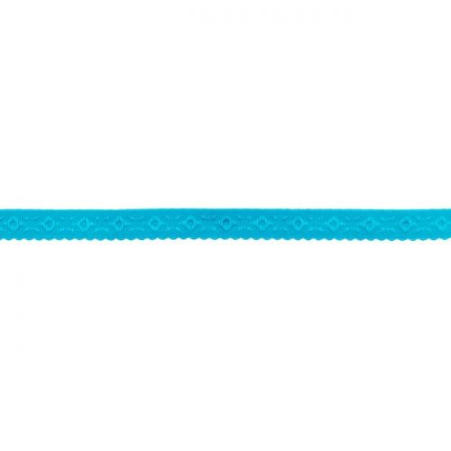 Elastique lingerie à cheval 11 mm bleu turquoise