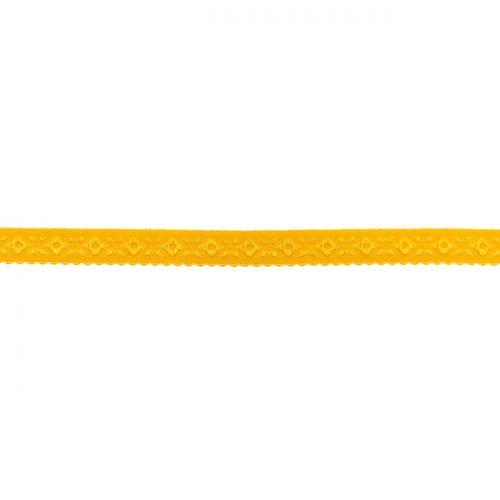 Elastique lingerie à cheval 11 mm jaune moutarde