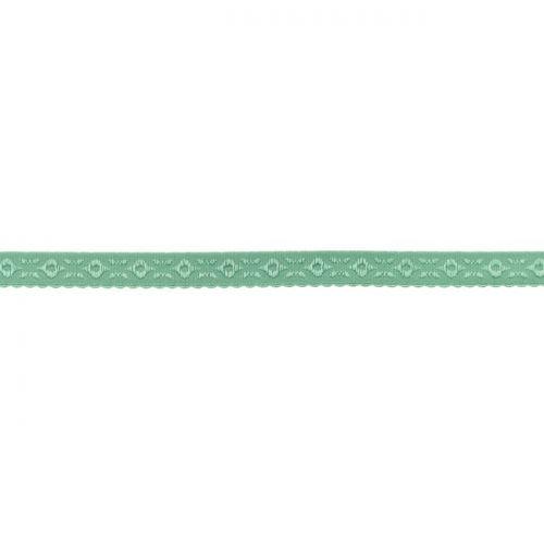 Elastique lingerie à cheval 11 mm vert d'eau