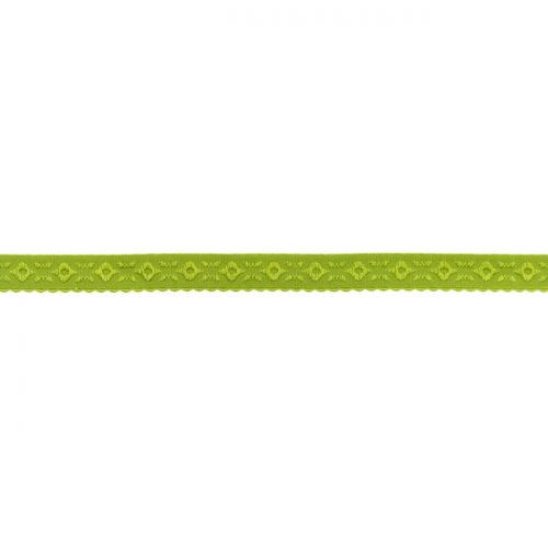 Elastique lingerie à cheval 11 mm vert olive
