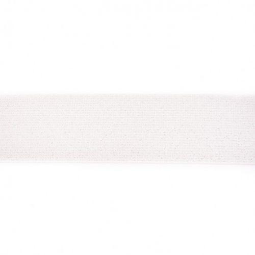 Elastique pailleté 50mm blanc/argent