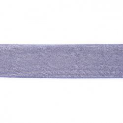 Elastique pailleté 50mm bleu/argent