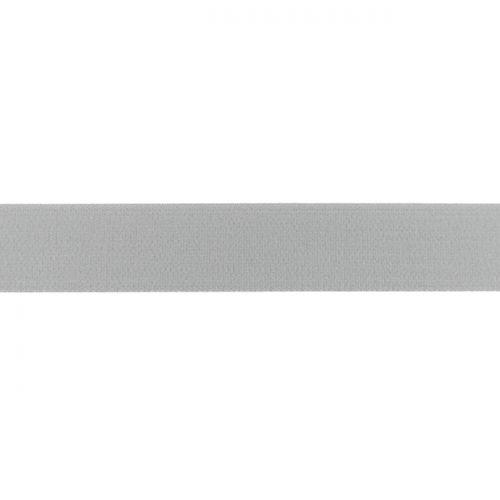 Elastique uni 25mm Gris clair
