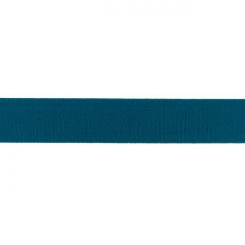 Elastique uni 25mm bleu pétrole