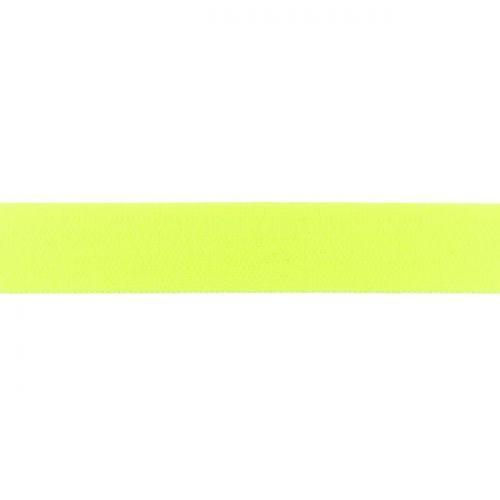 Elastique uni 25mm jaune fluo