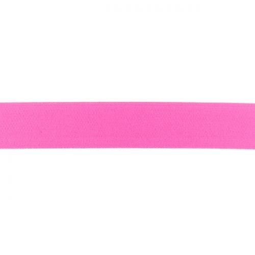 Elastique uni 25mm rose fluo