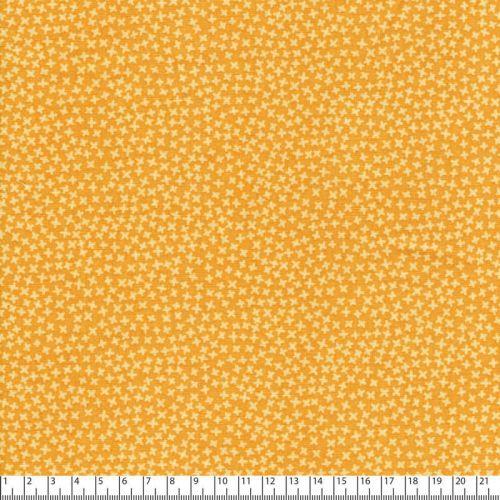 Tissu coton imprimé graphique jaune