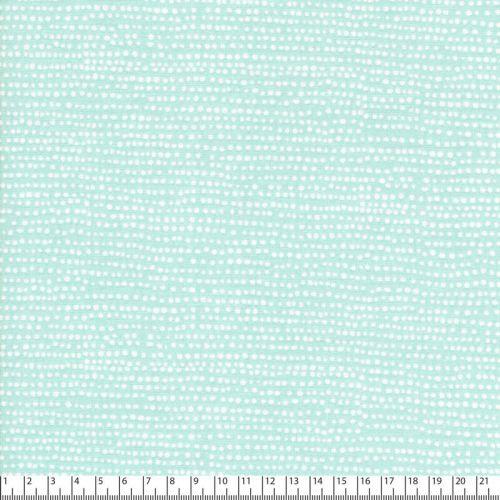 Tissu coton imprimé pois fond vert menthe
