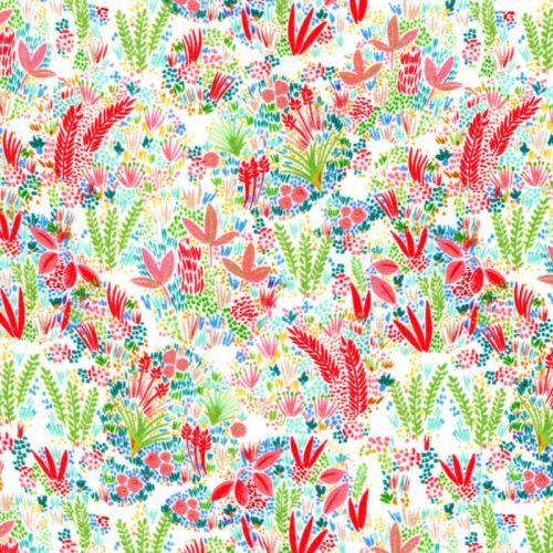 Tissu  viscose jardin d'été