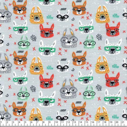 Tissu jersey cool glasses gris Poppy