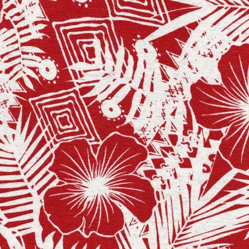 Tissu jersey Hawaii brique