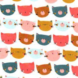 Tissu jersey velours happy cats Poppy