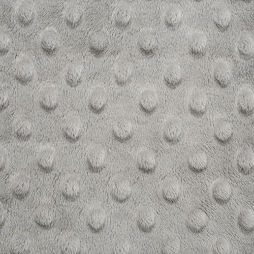Tissu Minky dot gris acier
