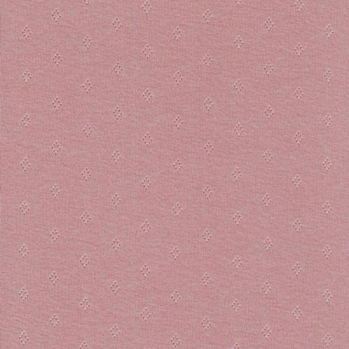 Tissu jersey ajouré pointelle rose