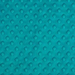 Tissu Minky dot bleu canard largeur 150
