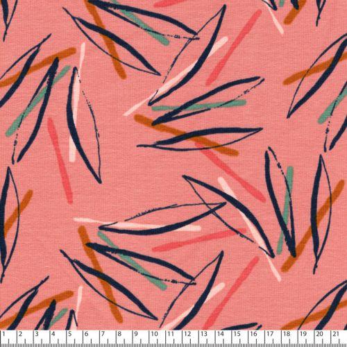 Tissu French Terry Fantasy stripes rose Poppy