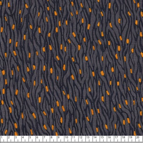 Tissu viscose écorce fond gris