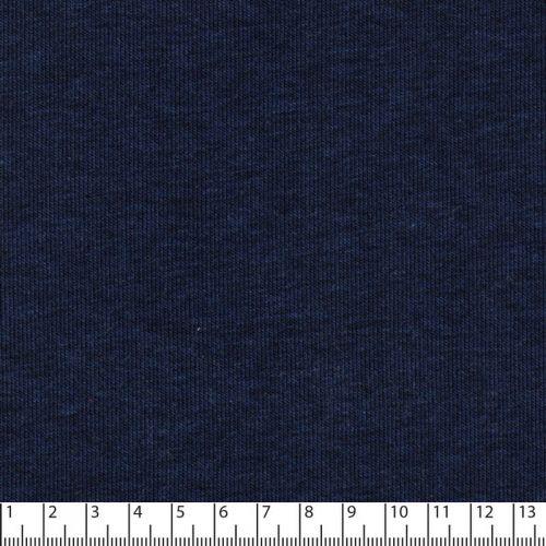 Tissu sweat chiné bleu 65%cot/35%pol larg 150 cm