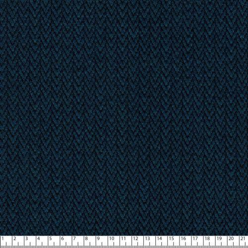 Tissu maille jacquard chevrons bleu canard 79%pol/18%vi/3%sp
