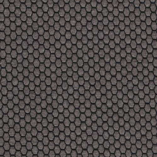 Tissu maille jacquard gris 79%pol/18%vi/3%sp larg 145cm