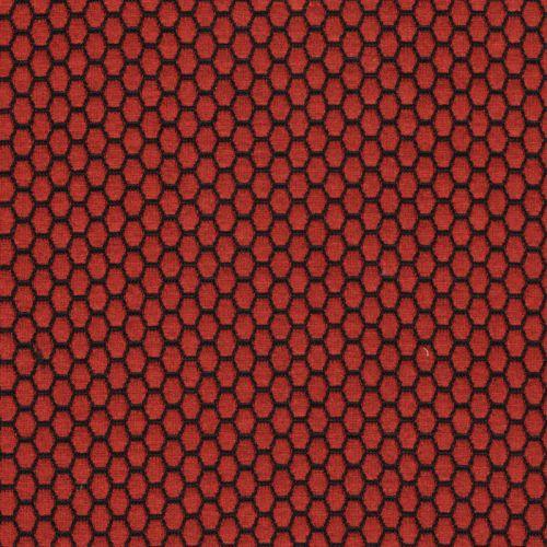 Tissu maille jacquard terracotta 79%pol/18%vi/3%sp larg 145c