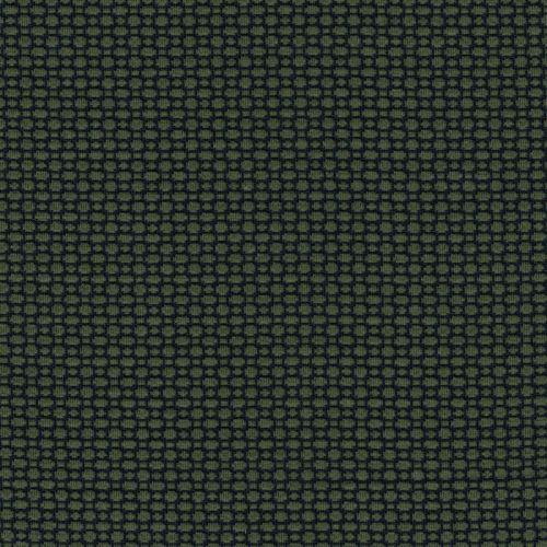 Tissu maille milano gaufré vert/noir