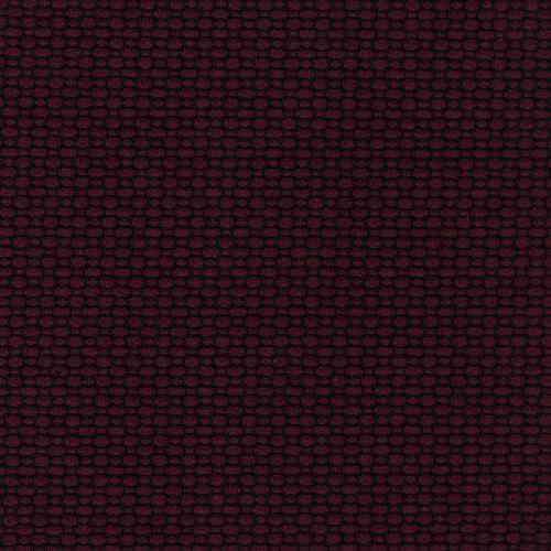 Tissu maille milano gaufré prune/noir