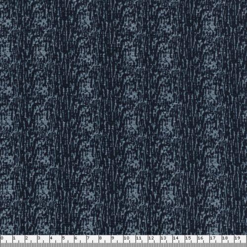Tissu jersey matrice gris sur fond bleu