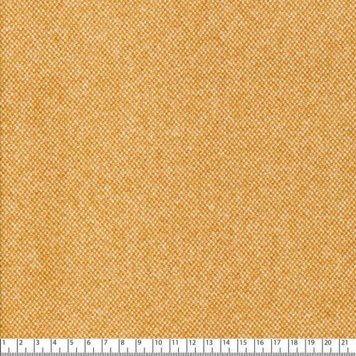 Tissu effet tweed jaune 100%pol larg 150 cm