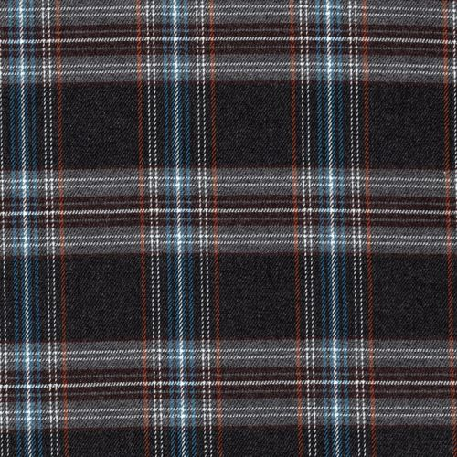Tissu écossais gris/bleu 65%pol/32%vis/3%sp larg 145 cm