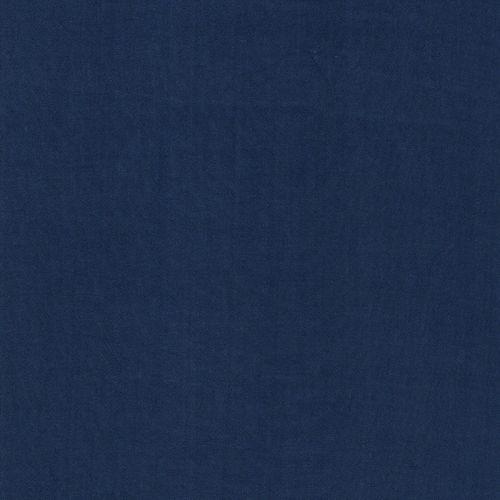 Tissu viscose froissée bleu jean