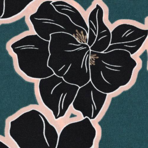 Tissu aloha glitter fd canard 100%pol larg 140 cm