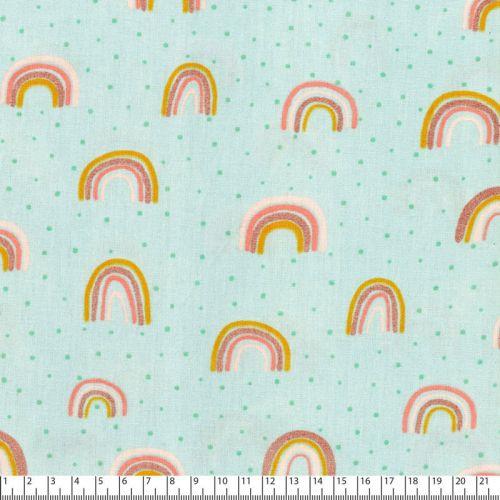 Tissu Rainbow glitter Poppy 100% coton larg 145 cm