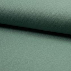 Tissu jersey matelassé vert 100% cot larg 170 cm