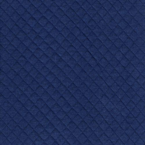 Tissu jersey matelassé bleu 100% cot larg 170 cm