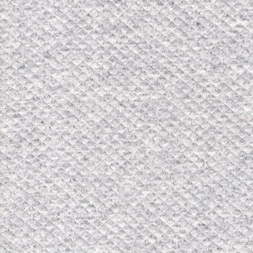 Tissu jersey matelassé mini losange gris chiné