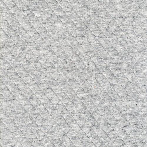 Tissu jersey matelassé gris moyen