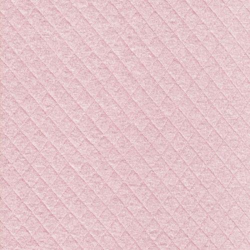 Tissu jersey matelassé rose nude