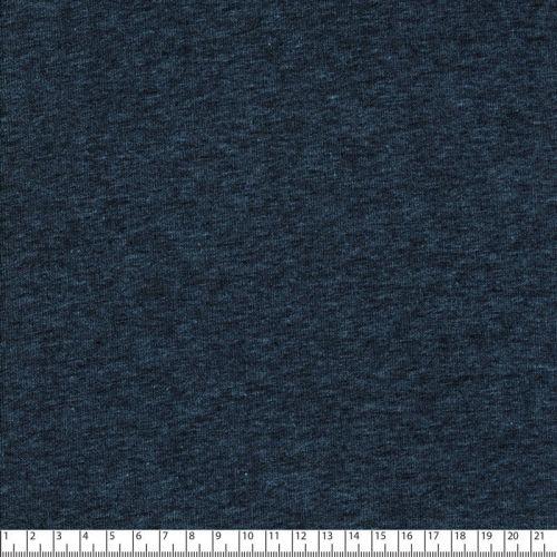 Tissu sweat chiné bleu jean