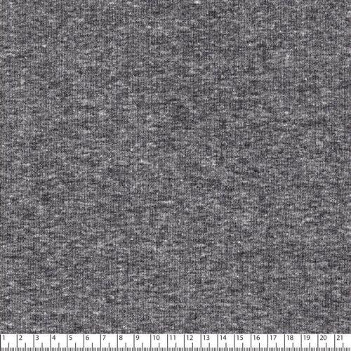 Tissu sweat chiné gris clair