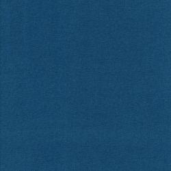 Tissu sweat fin bleu pétrole