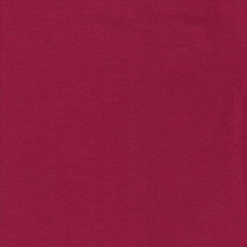 Tissu sweat fin rouge cerise
