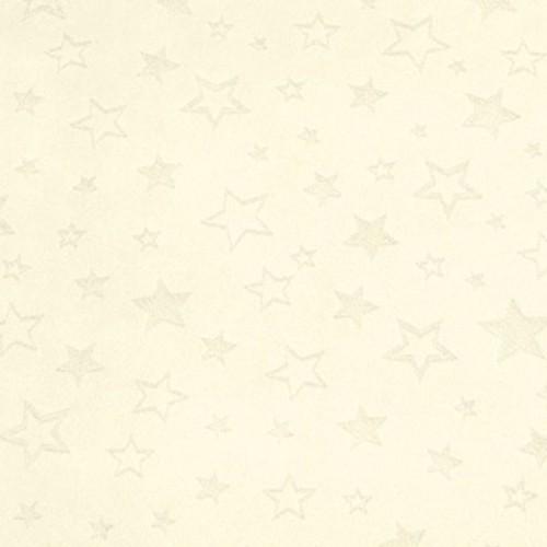 """Tissu Minky étoiles """"dévorées"""" ivoire largeur 150 cm"""