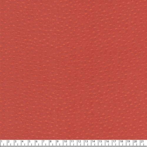 Tissu viscose plumeti terracotta