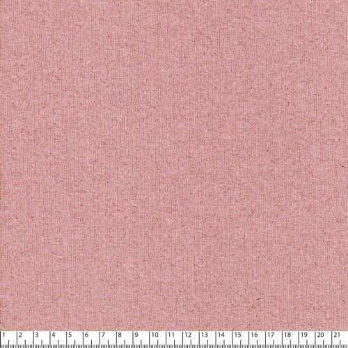 Tissu jogging glitter 90%cot/10%lurex larg 145cm rose/doré