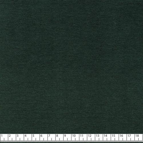 Tissu sweat fin vert foncé coton bio